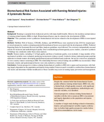 Factores de riesgo biomecánico asociados con lesiones relacionadas al running: Una revisión sistemática
