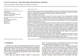 Diferencias en las variables cinéticas entre corredores novatos lesionados y no lesionados: un estudio de cohorte prospectivo