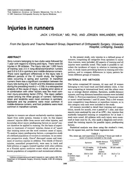 Lesiones en corredores